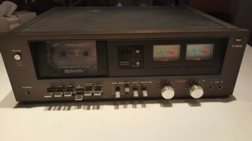 Dual c 809 Made in Germany Stereo Cassette Deck BLACK GOOD CONDITION