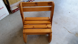 Childs Home Made Timber Chair/Step Rutherford Maitland Area Preview