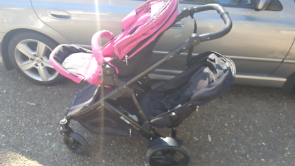 Pink strider plus with second seat