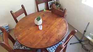 Rustic wooden dining table + 6 chairs Marrickville Marrickville Area Preview