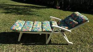 Outdoor sun lounge chair with cushion Eastwood Ryde Area Preview