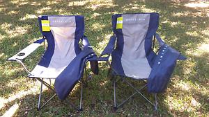Two new Wanderer 100 KG getaway quad fold camping chair chairs Darwin CBD Darwin City Preview