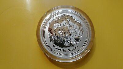 2012 Australian Lunar Dragon 1/2 oz Silver Coin Perth Mint 50 Cent Half Ounce 2 Silver Minted Coins