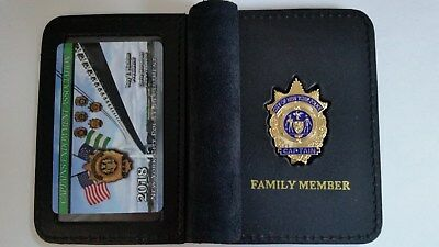 "1 ""COLLECTIBLE""  CEA PBA CARD WITH LEATHER FAMILY MEMBER WALLET NOT DEA SBA LBA"