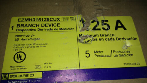 Schneider Square D EZMH315125CUX Meter Pak, 5 Position, 208/120v, 3Ph, 4 Wire