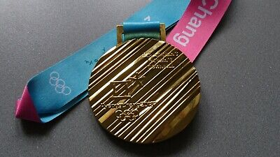 Goldmedaille Gold Olympia Olympische Spiele Medaille Pyeongchang 2018