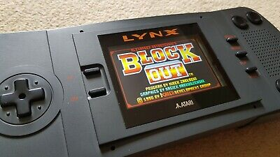 Atari Lynx 1 with McWill LCD and 5v regulator mod from CALAXO CONSOLES + 1 game