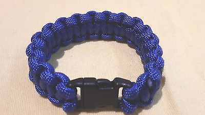 Survivalarmband geflochtener Paracord blau XL Clipverschl. Breite 1.5 cm Survival Armband Blau