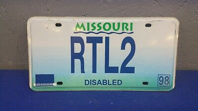 MISSOURI MO LICENSE PLATE DISABLED RTL2