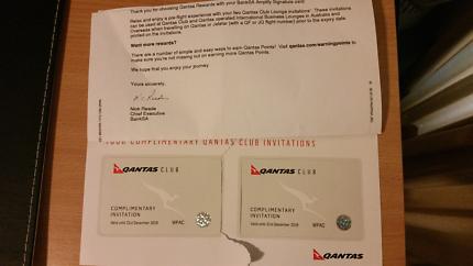 Qantas x2 lounge passes