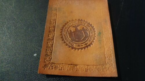 1912 L-23 State Seal Tobacco Leather -  New York