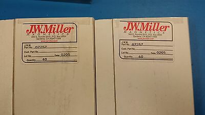 2 Pcs 07257 Jw Miller Inductor Coil Filters Obsoleted