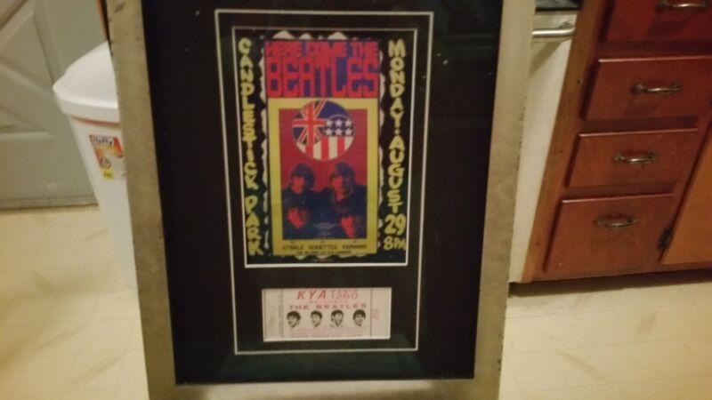 Unused Candlestick Park Beatles ticket
