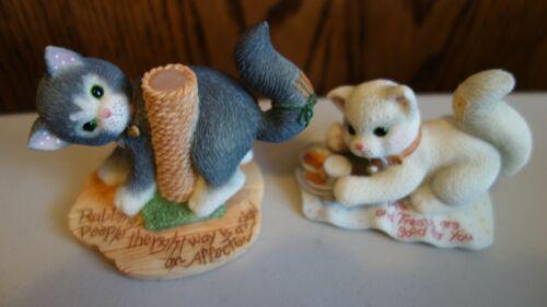 Calico Kittens Scratching Post & Treats 2 Figurine Set 31833 Hamilton Bradford