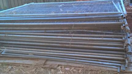 37 panels temporary fencing 2.4m x 2.1m with clamps