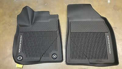 Toyota Highlander 2014 - 2017 All Weather Floor Liners Genuine OEM Set of 3