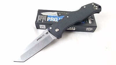 Cold Steel Pro Lite Lockback Black FRN Handle Folding Tanto Blade Knife 20NST