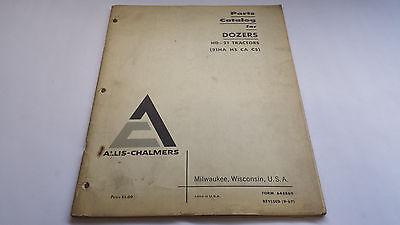 Allis-chalmers Parts Catalog For Dozers Hd-21 Tractors 21ha Hs Ca Cs