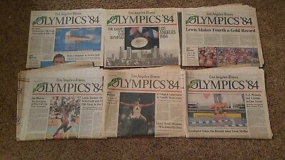 Los Angeles Times 1984 Olympics Newspapers  Part Viii    6 Papers