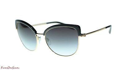 BVLGARI Women Sunglasses BV6082 3768G Pink Gold Black/Grey Gradient Lens 58mm, used for sale  Brooklyn