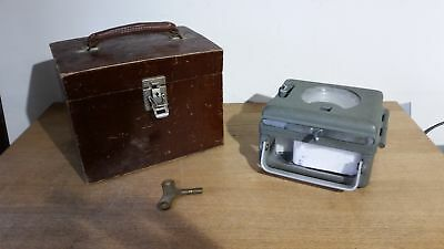 Toulet Super 228280 Vintage Pigeon Clock with Turning Key, Wood Case Grade B