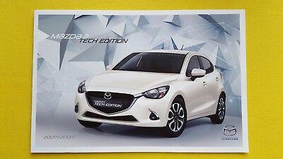 Mazda 2 Tech Edition 1.5 Hatch brochure sales catalogue July 2017 MINT CONDITION