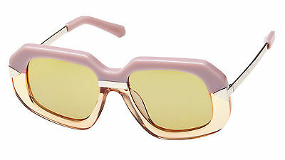New Karen Walker HOLLYWOOD CREEPER 1501407 Pink&Peach/Tan Tint Mono Sunglasses