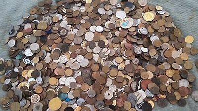 Lot/Bulk: 10 Pounds Mixed Tokens, good mix - low start price - huge piles here