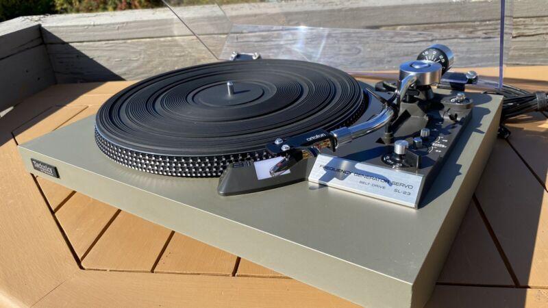 Technics SL-23 Turntable, New Ortofon Pro S Cartridge