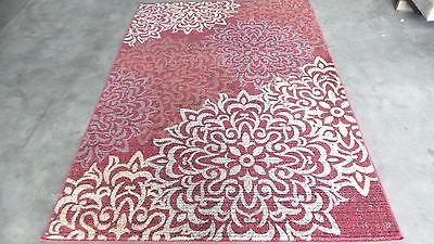 - RUGS AREA RUGS 8x10 CARPETS AREA RUG BIG MODERN LARGE ROOM FLORAL RED COOL RUGS