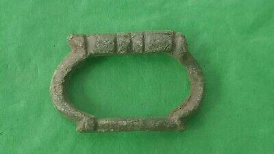 Lovely rare 12 hundreds bronze buckle as found. Please read description L61t