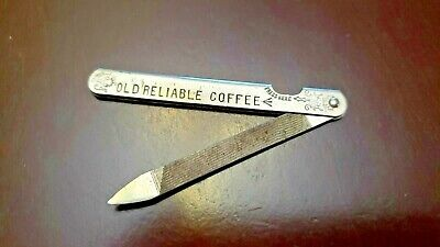Vintage Old Reliable Coffee Nail File
