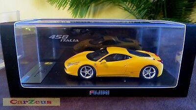 1:43 TSM Fujimi, 2009 Ferrari F458 Italia Giallo Modena, Yellow TSM10FJ003