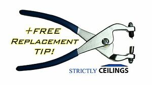 Strictly Ceiling Grid punch pliers, BONUS FREE REPL TIP!! 1/8