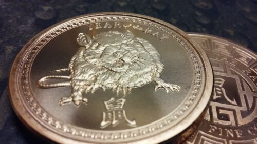Year of the Rat 2020 Chinese zodiac one ounce copper