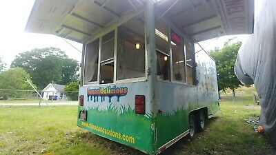 16 X 7 Concession Trailer Food Truck Kitchen - Hood Fire Propane Electric