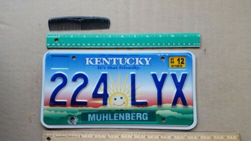 License Plate, Kentucky, Happy Sun, Sunrise, 224 LYX