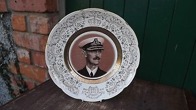 1955 Golden Jubilee of King Haakon 7th of Norway Large dated Plate Sepia Photo