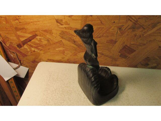 1927 Kraftrok Rich Craft Studios Jamestown NY Chalkware Art Deco Nude