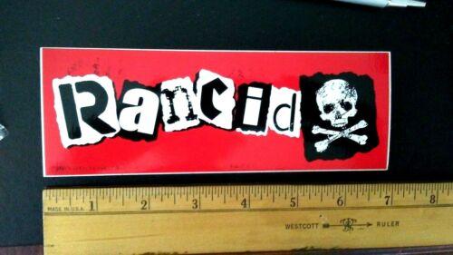 "RANCID PUNK ROCK MUSIC GROUP GLOSSY PEEL OFF 2003 NEW ALBUM 7"" PROMO STICKER"