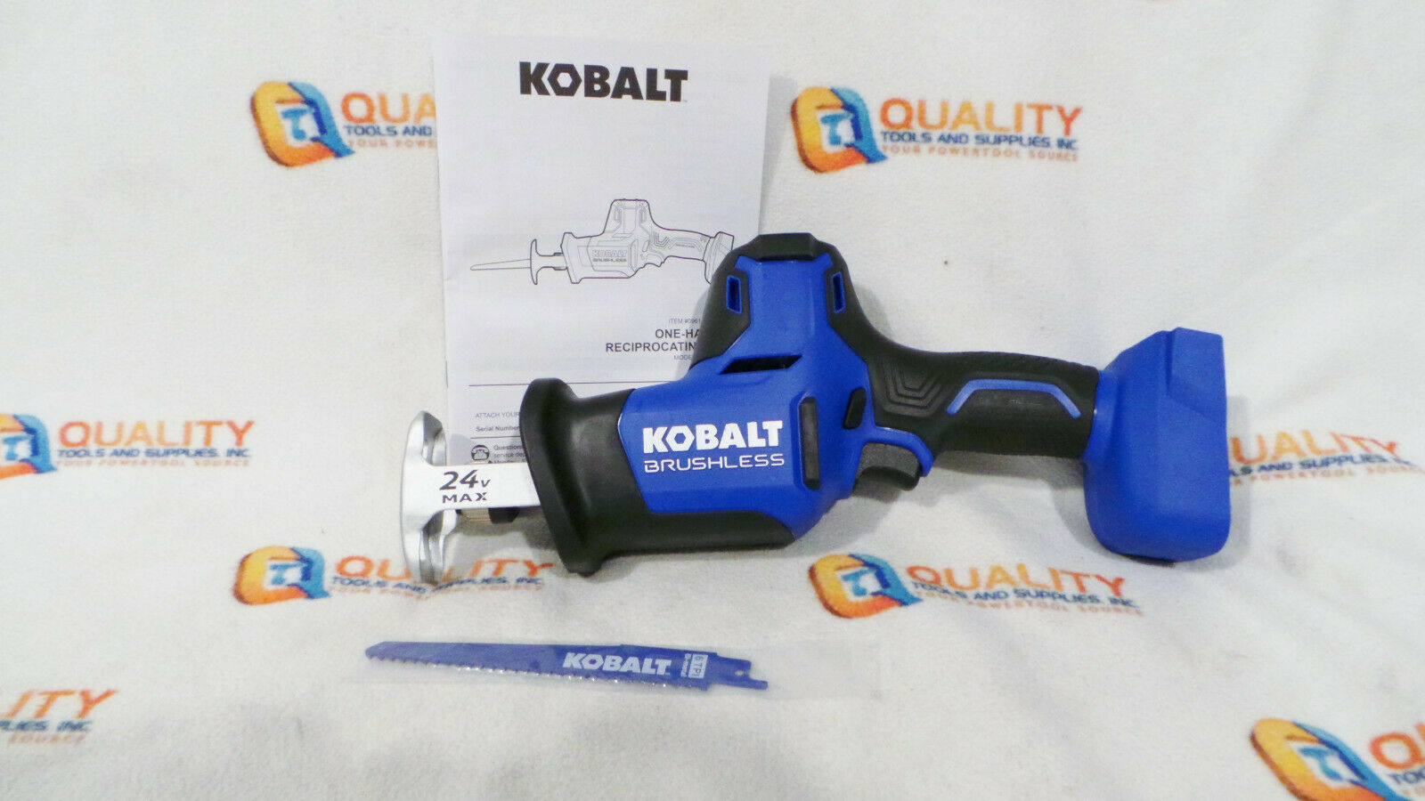 New Kobalt KRS 124B-03 24V Brushless One Handed Reciprocatin