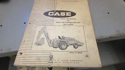 Case Model 34 Backhoe Parts Catalog For Use W 680 Construction King 983