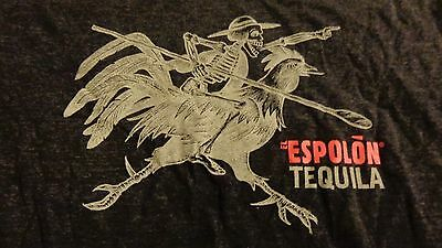 Espolon Tequila..Skeleton Riding a Rooster - Women's Shirt...Large?...NEW