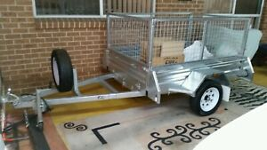 Trailer 6 by 4 galvanised with cage 2018 model
