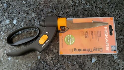Fiskars Easy Trimming Grass Shears - Stainless Steel - Rotating Head - BRAND NEW