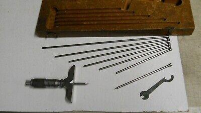 Vintage Starrett 440 Micrometer Depth Gage 0-6  Used  Wextras