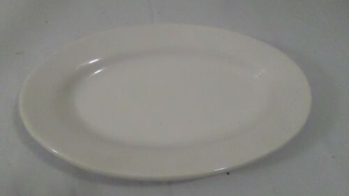 "Vintage White Buffalo China USA 9 1/2"" Oval Plate"