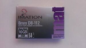 Imation D8-112 8mm 10GB/5GB Black Watch Data Tape NUOVA - Italia - Imation D8-112 8mm 10GB/5GB Black Watch Data Tape NUOVA - Italia