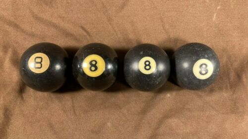 Lot of Antique Billiard Pool Ball #8 Vintage Pool 8 Ball Lot