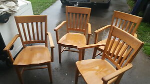 4 wooden chairs very strong $100.00